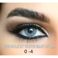 EOS SOLE white gray 2 tone D=14,2 mm до -4