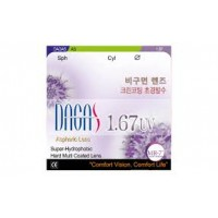 Асферические очковые линзы Dagas 1. 67 SP HMC (2 линзы)