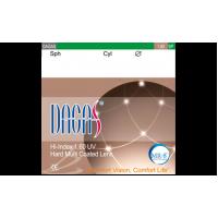Антибликовые очковые линзы Dagas 1. 60 SP HMC (2 линзы)